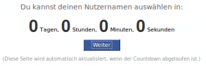 Facebooks Counter in der Nullstellung