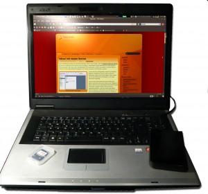 Laptop, SD-Karte, externe Festplatte