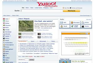 """Yahoo! Deutschland noch """"alt"""""""