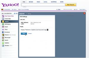 Die neue Yahoo Homepage