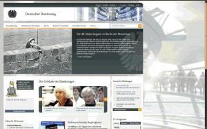 Startseite von bundestag.de