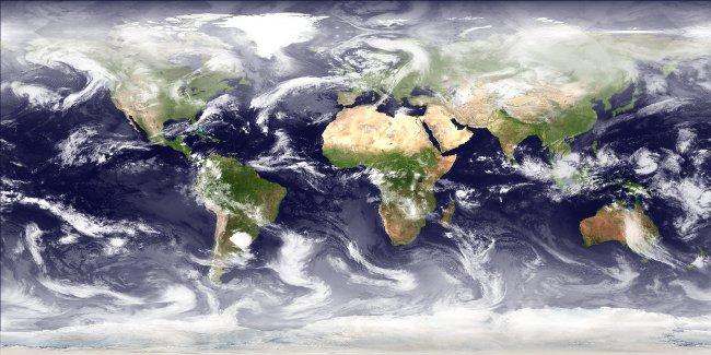 Wolkenbild der Erde